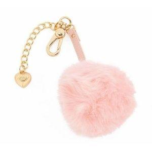 Juicy Couture Faux Fur Pom Pom Key Chain